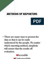 Methods Reporting
