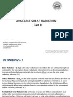 Available Solar Radiation - Part II (1)