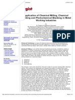 Chemical Milling, Chemical Blanking and Photochemical Blanking""