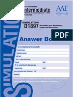 D1897 Unit 6 ECR Answer booklet0123213413131354796432645+965523165798746851
