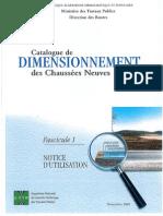 Catalogue de Dimensionnement Des Chaussees Neuves (Fascicule1)