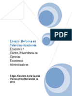 Ensayo Reforma en Telecomunicaciones