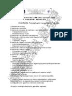 Tematica Tehnici Ingrijiri Bolnav