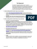 Cooperative Extension Paperwork