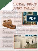 Structural Brick Masonry Walls