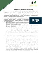 Declaracion Sobre Seguridad Energetica en Venezuela