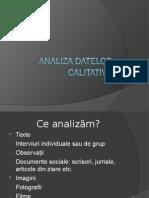 135533337 Analiza Datelor Calitative FS