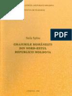 Stela Spînu. Graiurile româneşti din nord-estul Republicii Moldova