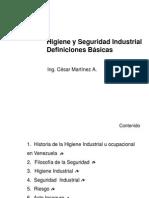 Conceptos Basicos. Higiene y Seguridad Fatla