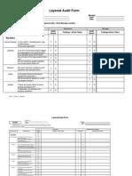Layered Process Audit Form
