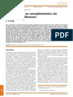 Legal Controls on Cannabimimetics an International Dilemma