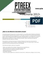 Memoria Aptaeex 2013-2014