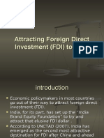 Attracting Foreign Direct Investment (FDI) to India