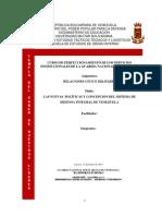 Las Nuevas Políticas y Concepcion Del Sistema de Defensa Integral de Venezuela