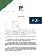 2h(i). Memo Regarding New NFL Personal Conduct Policy (Dec. 9, 2014)
