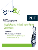 1 GRC Convergence Integrating Assurance Functions to Improve Business Decision Making