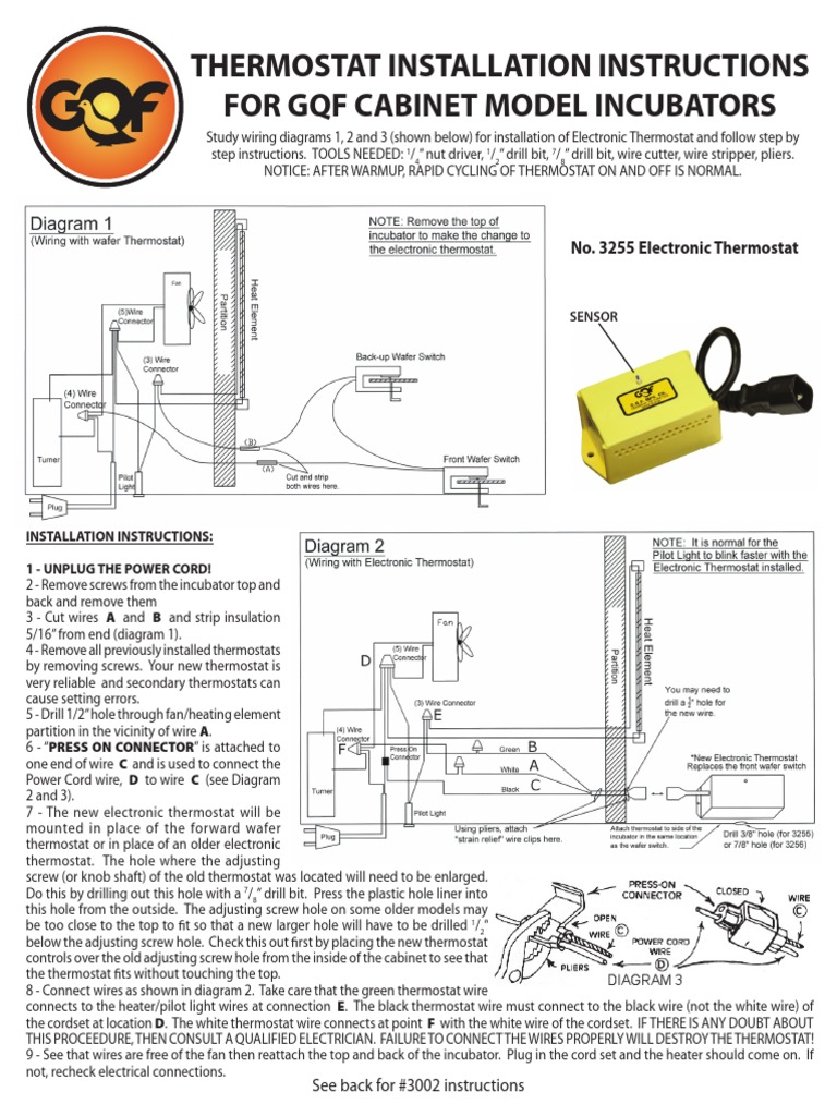 thermostat installation thermostat electric powerGqf Incubator Thermostat Wiring Diagram #4