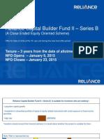 Presentation Reliance Capital Builder Fund II - Series B (1)