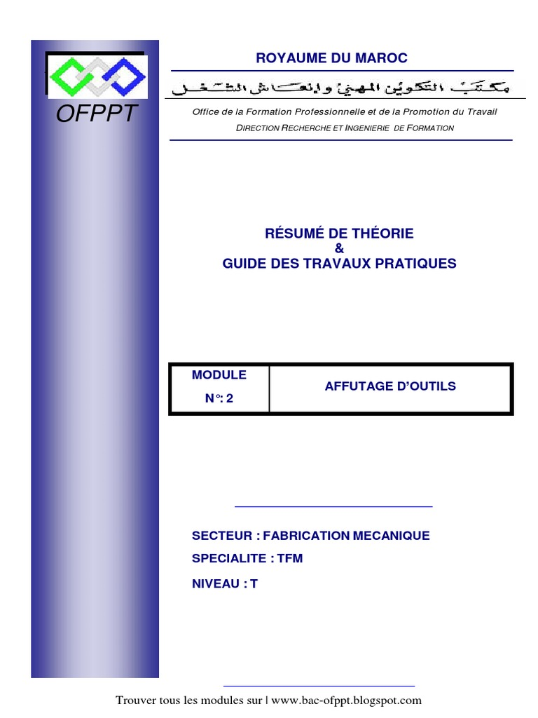 les modules de ofppt tfm