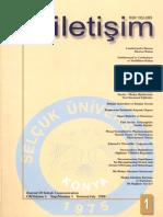 Selçuk Üniversitesi İletişim Dergisi  cilt1  sayi1_temmuz99