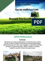 Bazele Horticulturii - Curs 7 Peisagistica