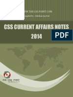 CSS Current Affairs Notes - 2014