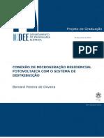 Conexão de Microgeração Residencial Fotovoltaica Com o Sistema de Distribuição