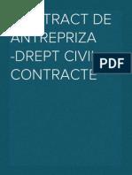 Contract de Antrepriza -Drept Civil. Contracte