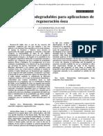 Biomateriales Para Regeneración Ósea