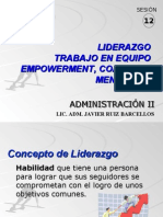 Sesion 12 Liderazgo Empowerment Coaching y Mentoring