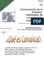 SESIÓN 11 LA COMUNICACION EN LAS EMPRESAS