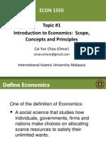 Topic 1 Intro to Economics