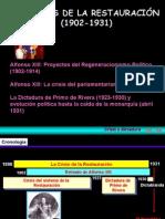 12.-LA CRISIS DE LA RESTAURACIÓN (1902-1931)