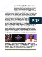 Sorority Sisters (2014) Ratchet Reality TV Show Reiew - Mona Scott Debate - FuTurXTV & HHBMedia.com - Hiphobattle.com - 12-20-2014.pdf