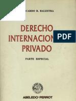 Derecho Internacional Privado - Parte Especial - Ricardo Balestra
