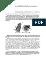 Titanium Coated With Functionalized Carbon Nanotubes