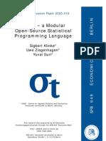 Yxilon - a Modular Open-source Statistical Programming Language