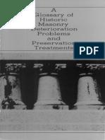 Glossary of Historic Masonry Deterioration 1984