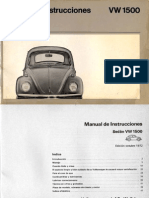 Manual Escarbajo 1972 Vw 1500