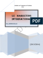 MARKETING INTERNATIONALE