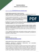 20100113.Sahara Occidental.resumen de Prensa