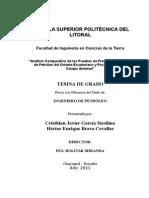 Indice Completo de Análisis Comparativo de las Pruebas de Presión entre Pozos de Petróleo del Oriente Ecuatoriano y Pozos de Gas del Campo Amistad