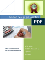 UFCD_0492_Gestão Da Equipa Logística_índice