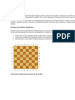 Notación algebraica para ajedrez