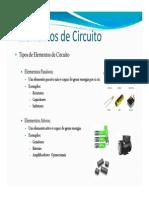 Elementos de Circuitos e Lei de Ohm