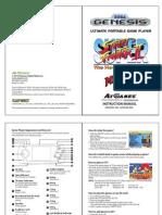 Sega Genesis Ultimate Portable User Manual
