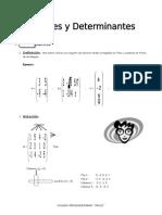 IV BIM - 4to. Año - ALG - Guía 3 -  Matrices y Determinantes.doc