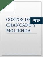 Costos de Molienda y Chancado en Mineria