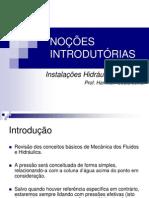 1 Instalações Hidráulicas Prediais - Noções Introdutórias