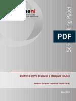Política Externa Brasileira e relações Sul Sul